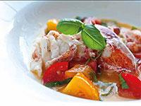 Image: Butter Poached Lobster with Fresh Tomatoes
